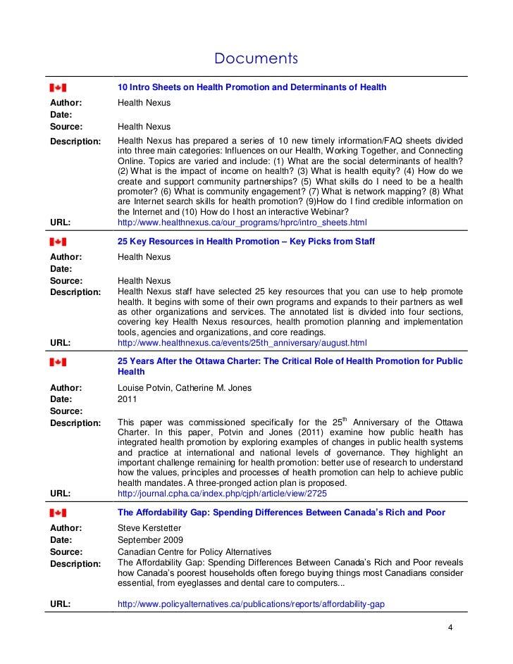 health promotion program essay