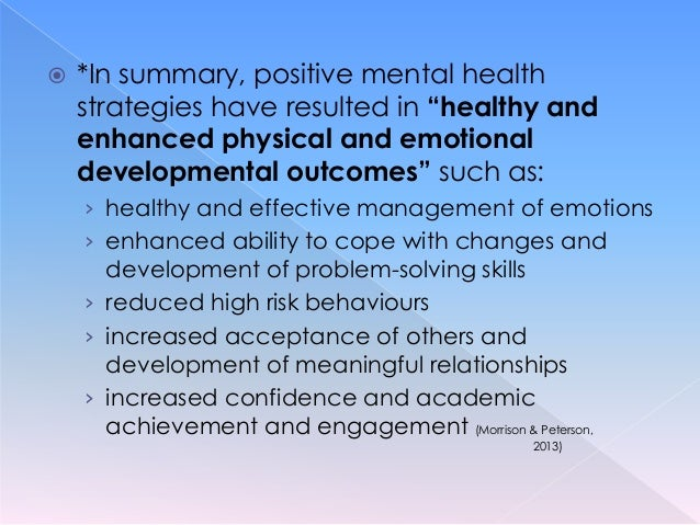 examples of good mental health