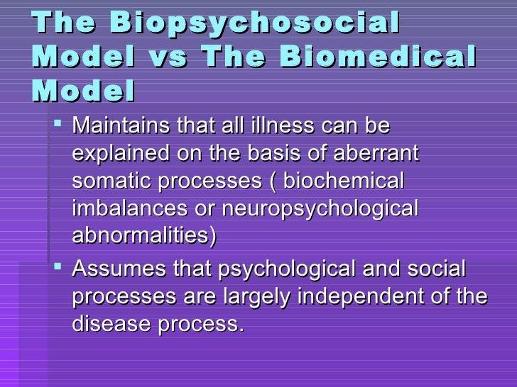 biomedical and biopsychosocial models of care