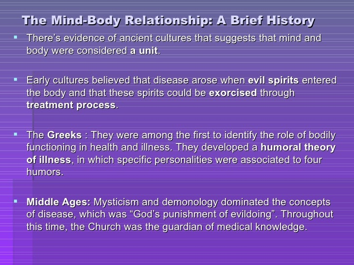 mind and body relationship in psychology