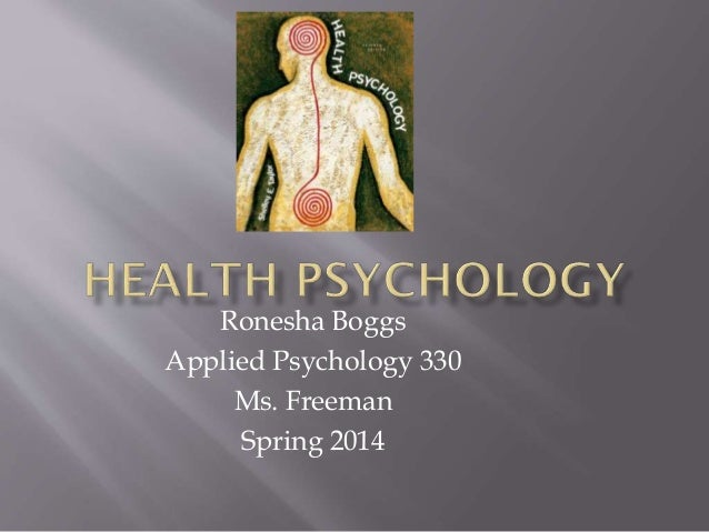 Health psychology pp roneshaboggs