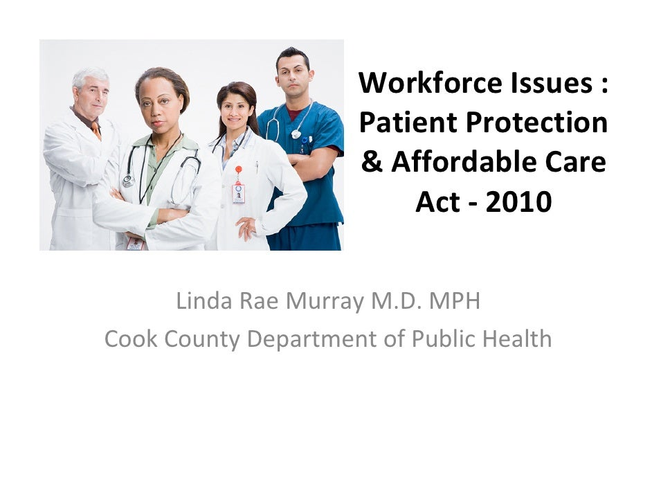 Health reform and workforce issues murray