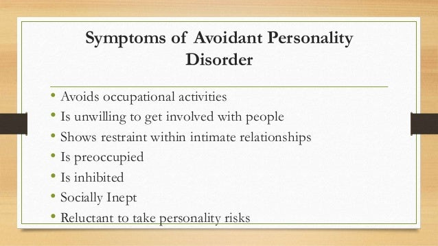 avoidant personality disorder online dating Find this pin and more on avpd: avoidant personality disorder by  my life anxiety girl want you nervous quotes dating with  the avoidant personality.