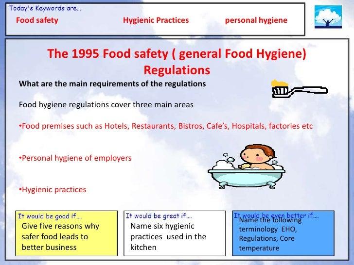 food safety and hygiene training pdf