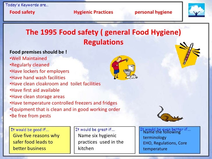 """food hygiene and safety practice Principles of food hygiene cover hygiene practices from primary production to enhance food safety as described in """"hazard analysis and critical control point."""