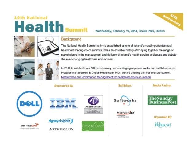 Health summit 2014 slide deck David Doherty mHealth