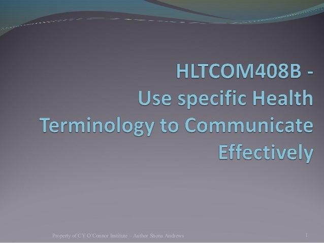 Health terminology  blackboard
