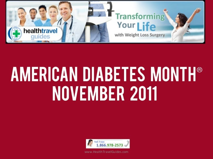 Health Travel Guides on American Diabetes Month