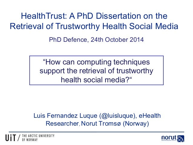 phd thesis health Diph: a low-tuition online doctorate in international public health offered by an intergovernmental organization.