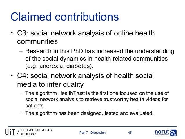 Phd thesis social network