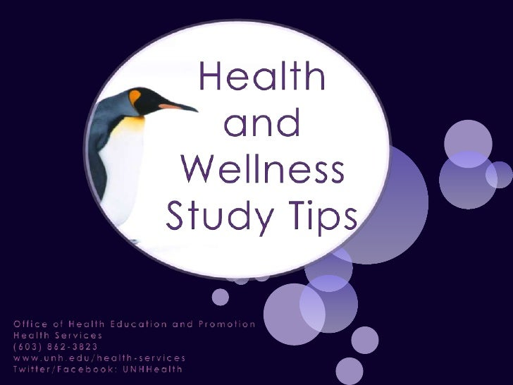 Health and Wellness Study Tips