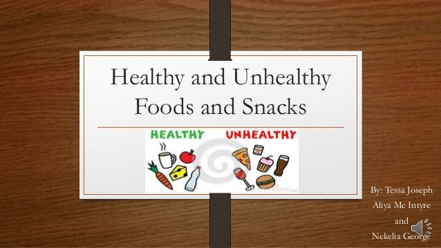 essay on healthy and unhealthy foods