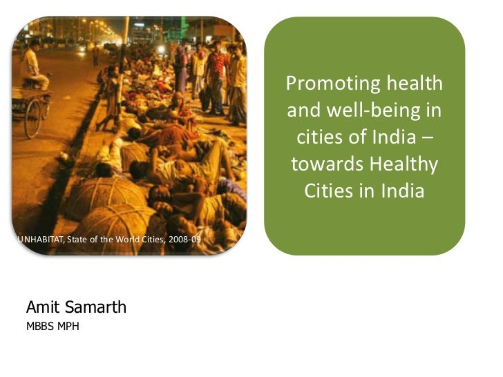 Promoting health                                                and well-being in                                         ...