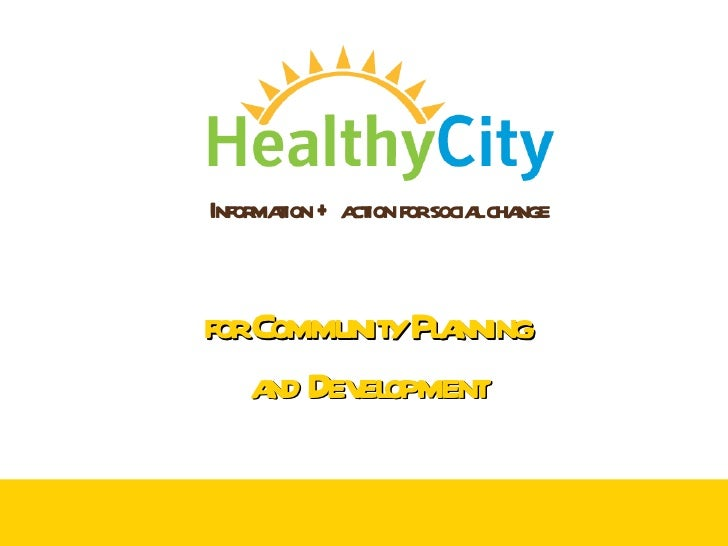 How to Use HealthyCity.org for Community Planning and Development