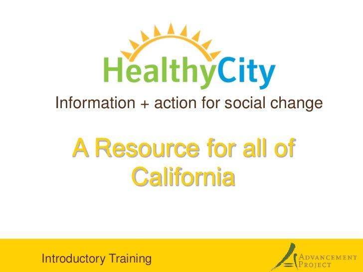 Healthy City presentation in Monterey & Salinas 3.14.12
