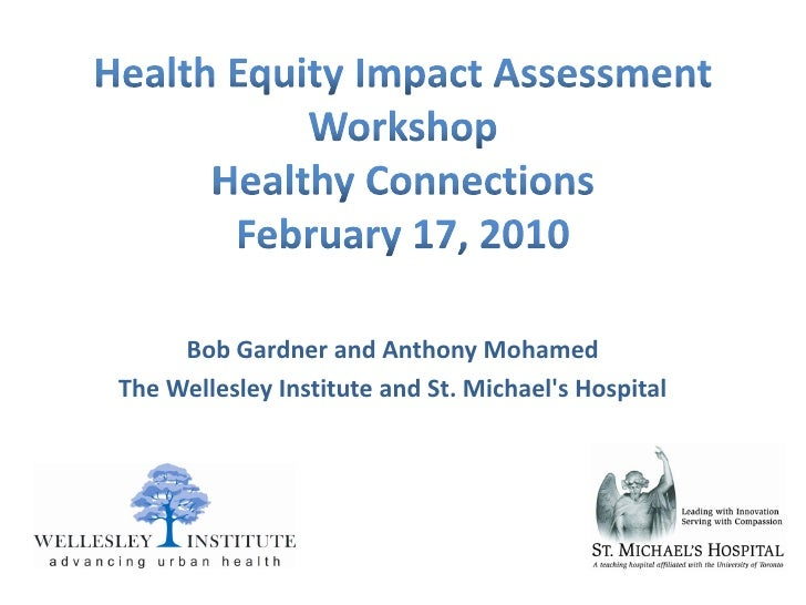 Health Equity Impact Assessment Workshop: Healthy Connection