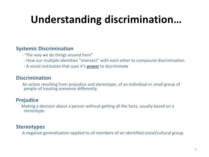 understanding discrimination in society