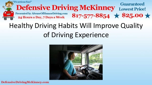 good driving habits Risk engineering technical information paper series: safe driving habits practice good driving habits with these safety tips from the hartford.