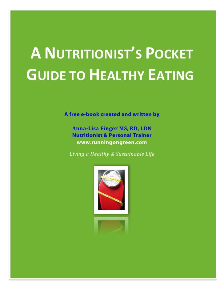 Nutritionist's Pocket Guide to Healthy Eating
