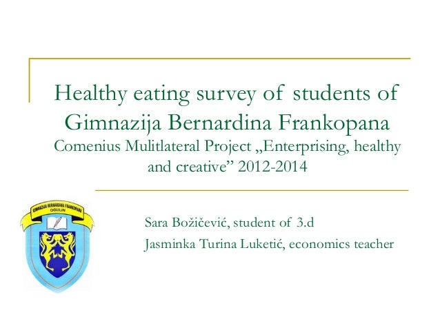 Healthy eating survey!