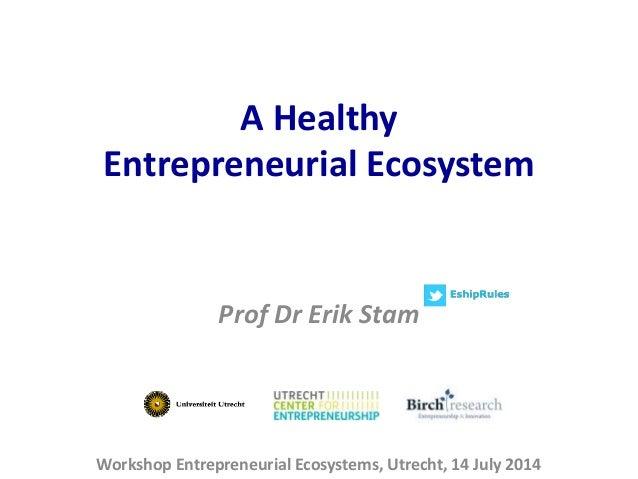 Healthy Entrepreneurial Ecosystems