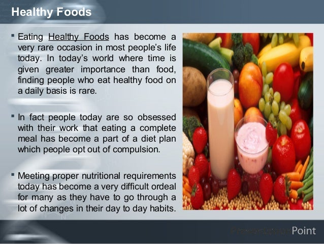 an introduction to healthy eating Informative speech outline example - eating healthily with a busy you can incorporate healthy eating into your lifestyle even if you are introduction: last.