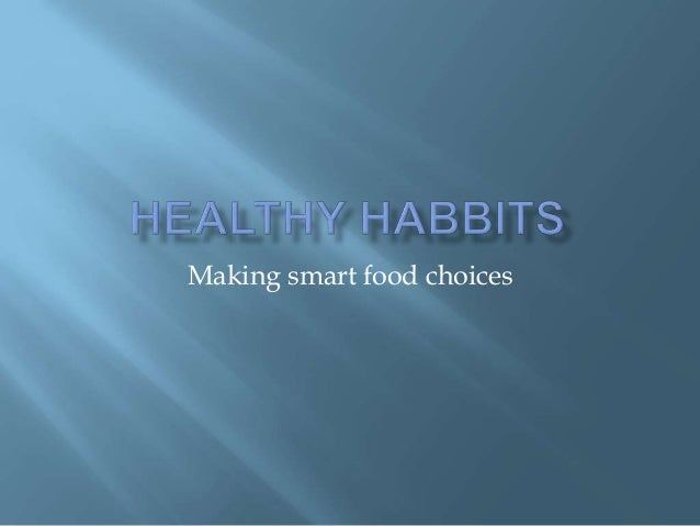 Making smart food choices