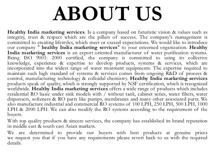 Healthy india marketing services