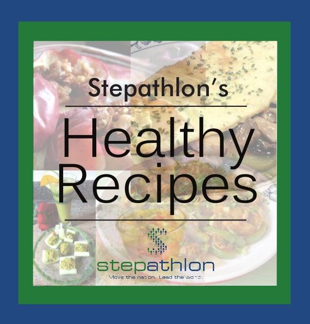 Stepathlon's Healthy recipes ebook