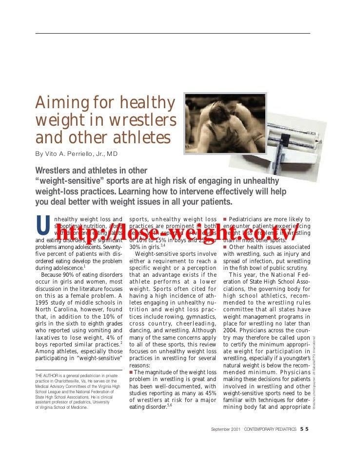 Healthy weight wrest