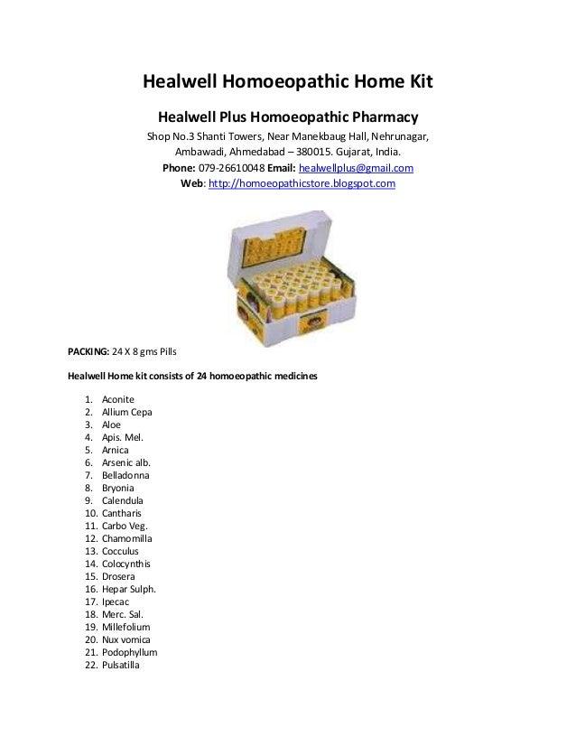 Healwell Homoeopathic Home Kit Healwell Plus Homoeopathic Pharmacy Shop No.3 Shanti Towers, Near Manekbaug Hall, Nehrunaga...