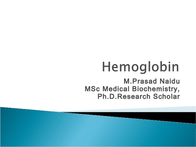 M.Prasad Naidu MSc Medical Biochemistry, Ph.D.Research Scholar