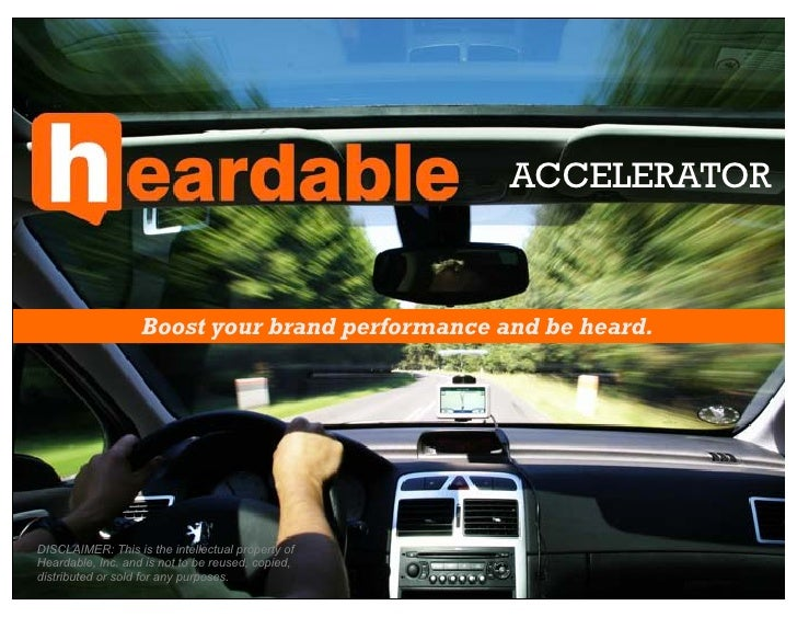 Heardable Accelerator: Boost Your Brand!