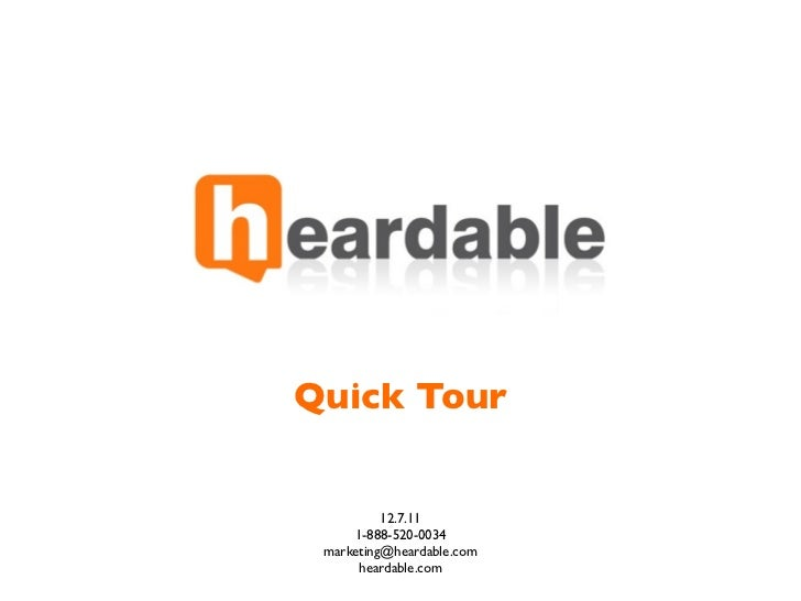 Heardable QuickTour