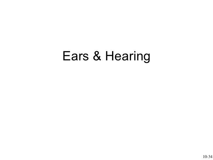 Ears & Hearing 10-34