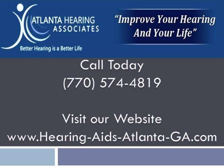 Hearing Loss Atlanta GA