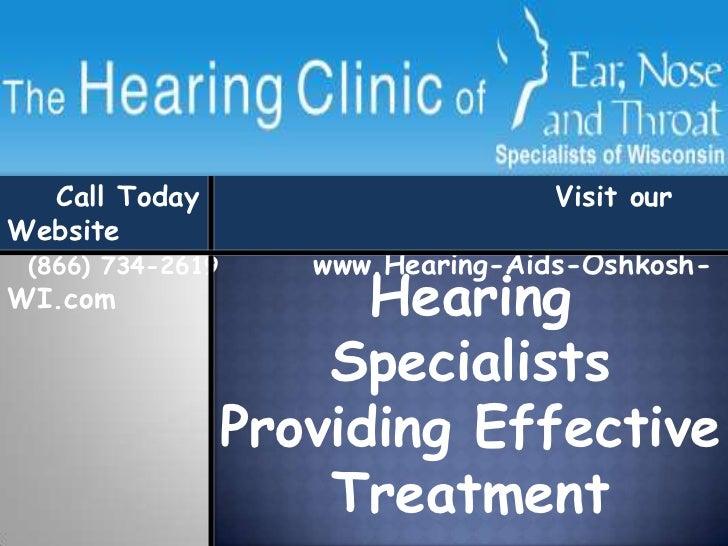 Hearing Specialist II Oshkosh WI