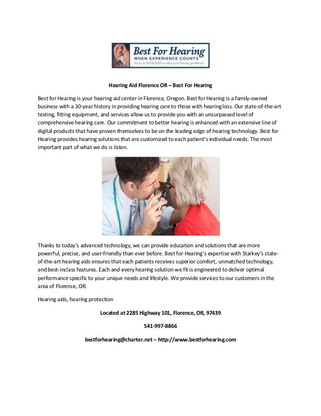 Hearing aid florence or   best for hearing