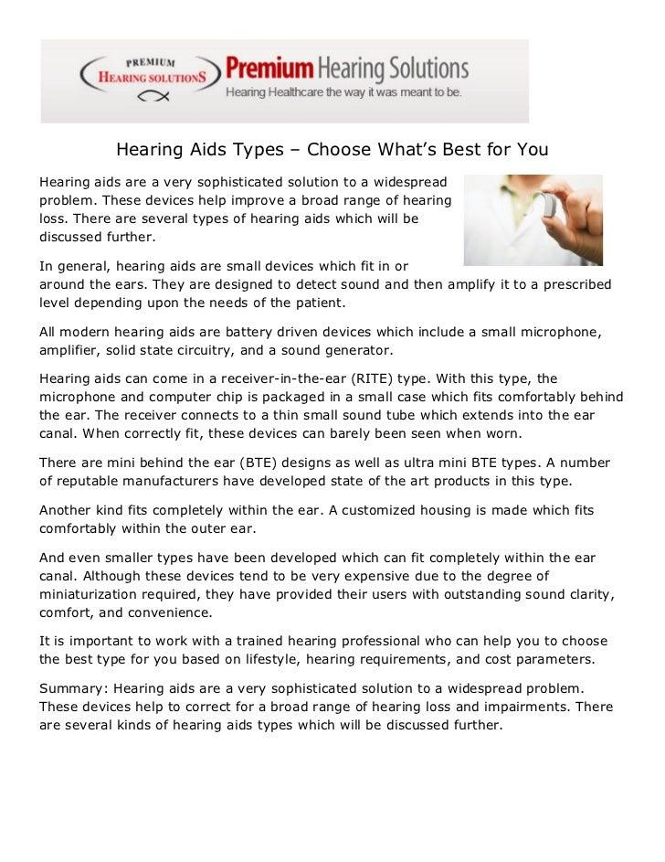 Hearing Aids Types Madison Heights MI