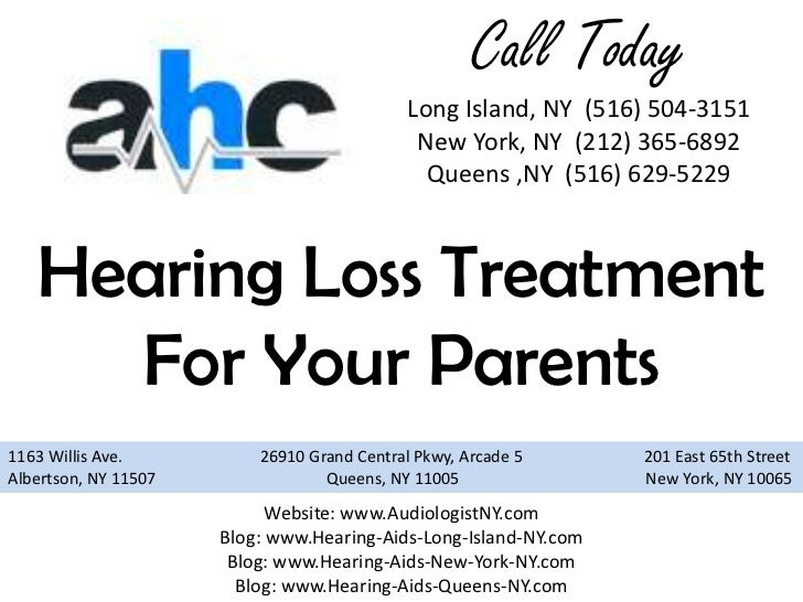 Hearing Loss Treatment For Your Parents