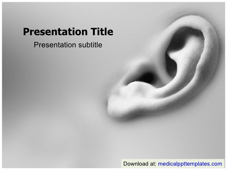 Hearing Powerpoint Template