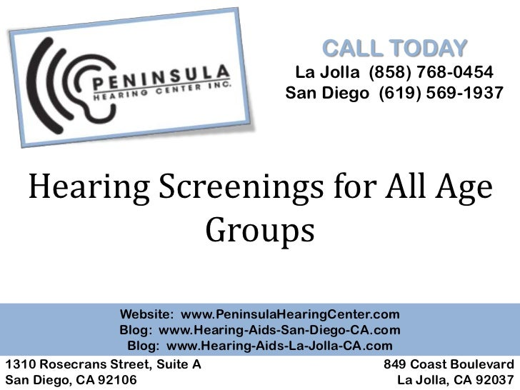 Hearing Screenings for all Age Groups
