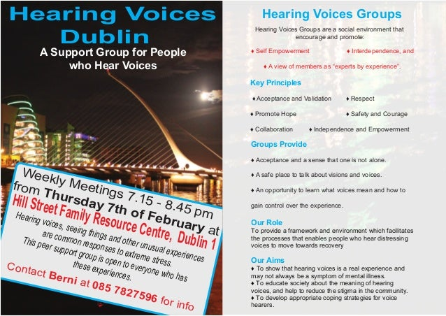 Hearing Voices                                                    Hearing Voices Groups   Dublin                          ...