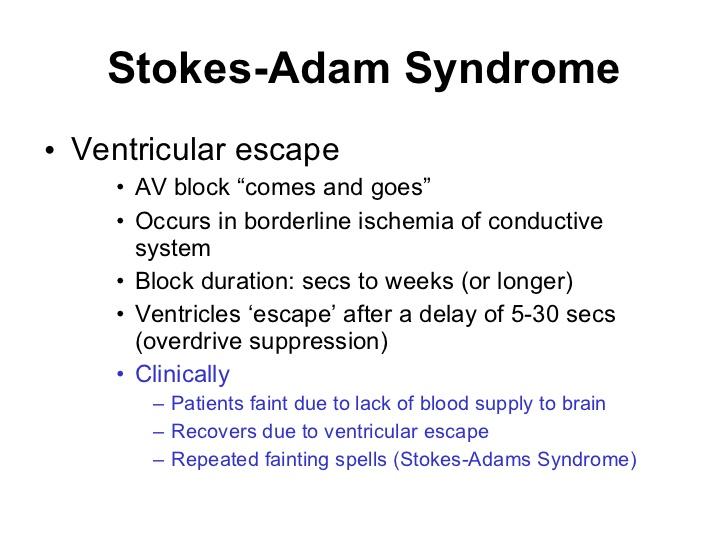 Синдром Стокса-Адамса фото