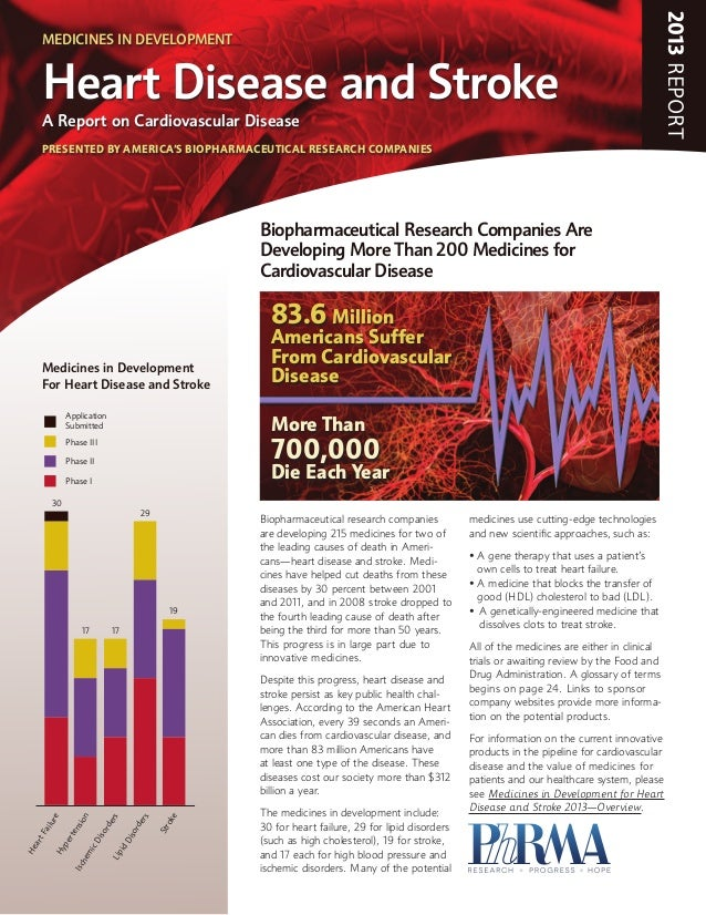 2013REPORTBiopharmaceutical research companiesare developing 215 medicines for two ofthe leading causes of death in Ameri-...