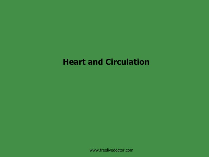 Heart and Circulation www.freelivedoctor.com