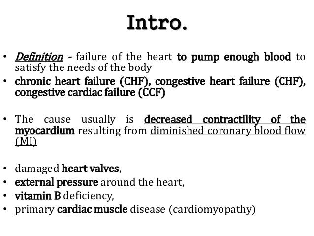congestive cardiac failure ccf essay