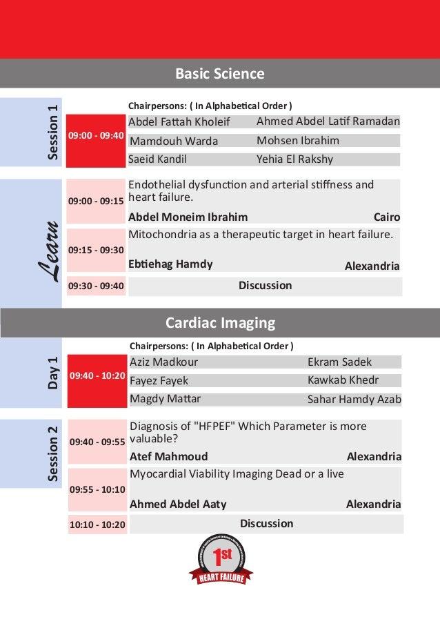 Heart failure conference final program 21-22 november 2013 azur hotel