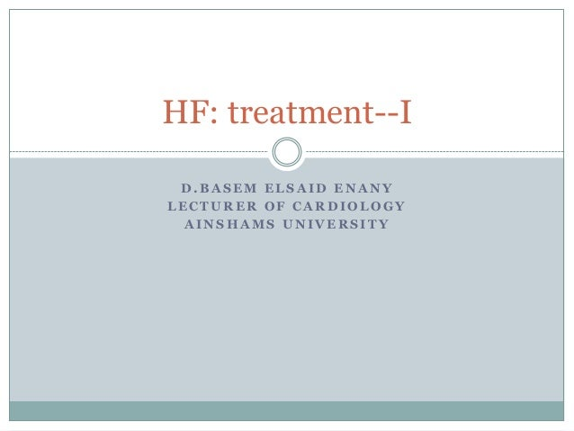 Heart failure treatment european guidlines 2012