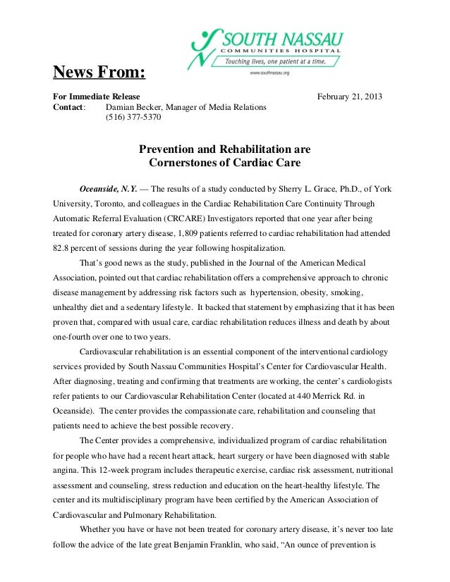News From:For Immediate Release                                                        February 21, 2013Contact:    Damian...